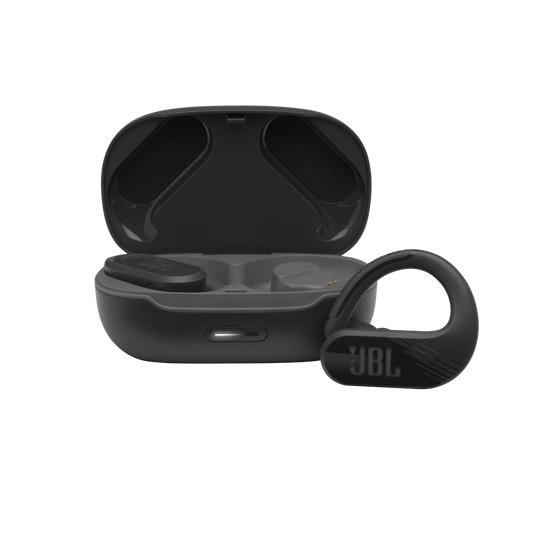 JBL Endurance Peak II - Black - Waterproof True Wireless In-Ear Sport Headphones - Hero