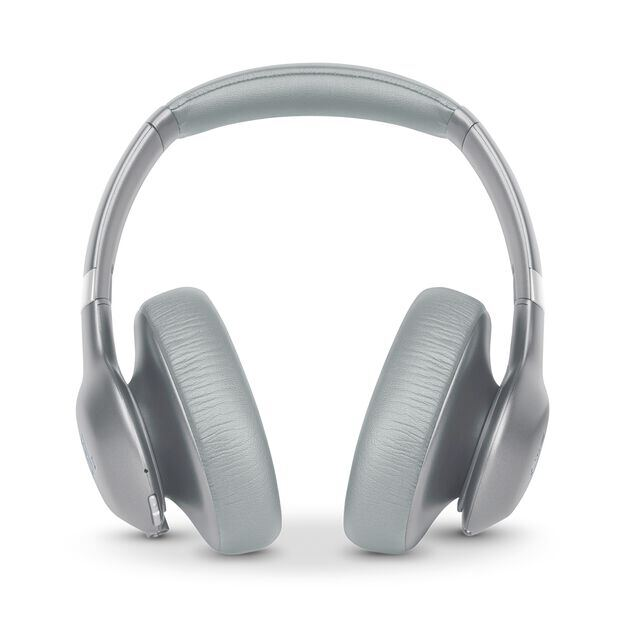 JBL EVEREST™ ELITE 750NC - Silver - Wireless Over-Ear Adaptive Noise Cancelling headphones - Front