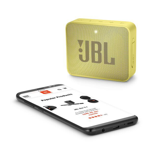 JBL GO 2 - Lemonade Yellow - Portable Bluetooth speaker - Detailshot 3