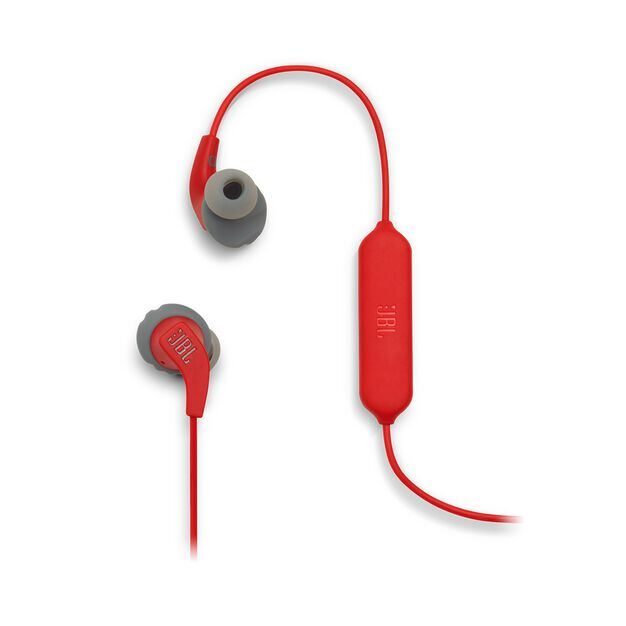 JBL Endurance RUNBT - Red - Sweatproof Wireless In-Ear Sport Headphones - Detailshot 1