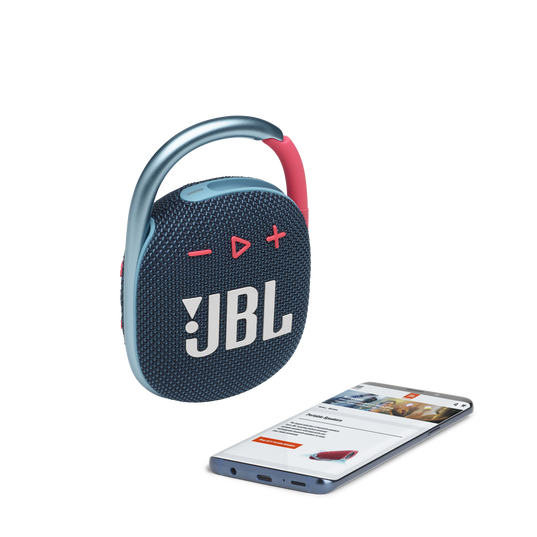 JBL CLIP 4 - Blue / Pink - Ultra-portable Waterproof Speaker - Detailshot 2
