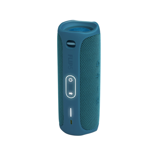 JBL Flip 5 Eco edition - Ocean Blue - Portable Speaker - Eco edition - Back