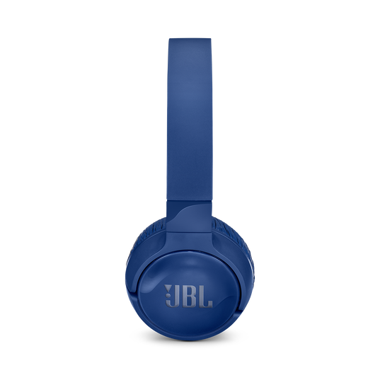 JBL TUNE 600BTNC - Blue - Wireless, on-ear, active noise-cancelling headphones. - Left