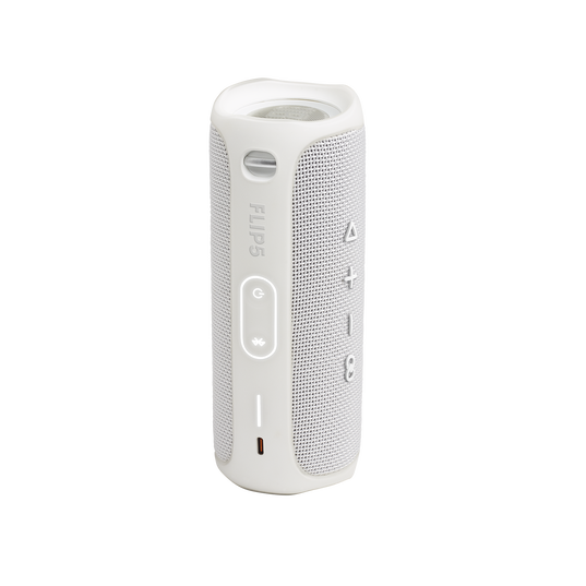 JBL FLIP 5 - White - Portable Waterproof Speaker - Back