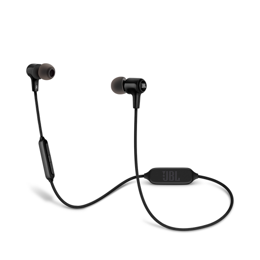 E25BT - Black - Wireless in-ear headphones - Hero