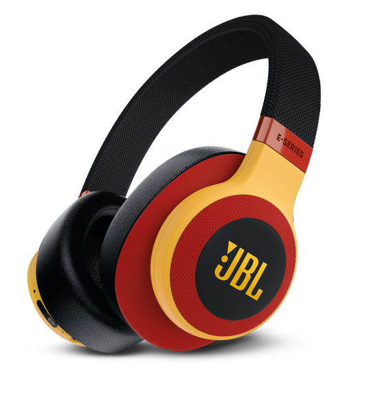 JBL E65BTNC - Black / Red - Wireless over-ear noise-cancelling headphones - Detailshot 1