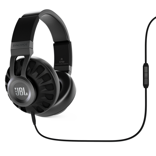 Synchros S700 - Black - Advanced JBL over-ear powered headphones featuring LiveStage™ DSP - Hero