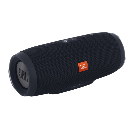 JBL Charge 3 Stealth Edition - Black - Full-featured waterproof portable speaker with high-capacity battery to charge your devices - Hero