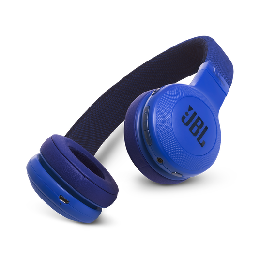 JBL E45BT - Blue - Wireless on-ear headphones - Hero