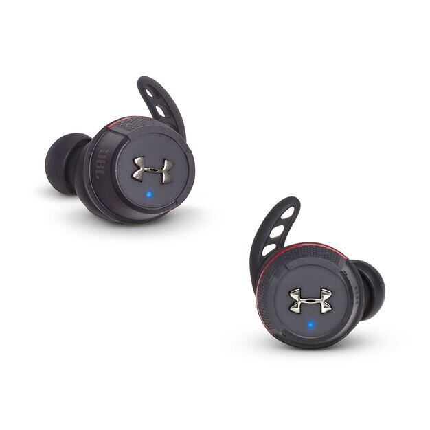 Under Armour® True Wireless Flash – Engineered by JBL® - Black - Truely wireless sport headphones for your every run, with JBL technology and sound. - Hero
