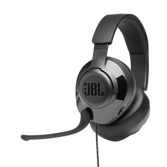 JBL Quantum 300 - Black - Hybrid wired over-ear gaming headset with flip-up mic - Detailshot 3