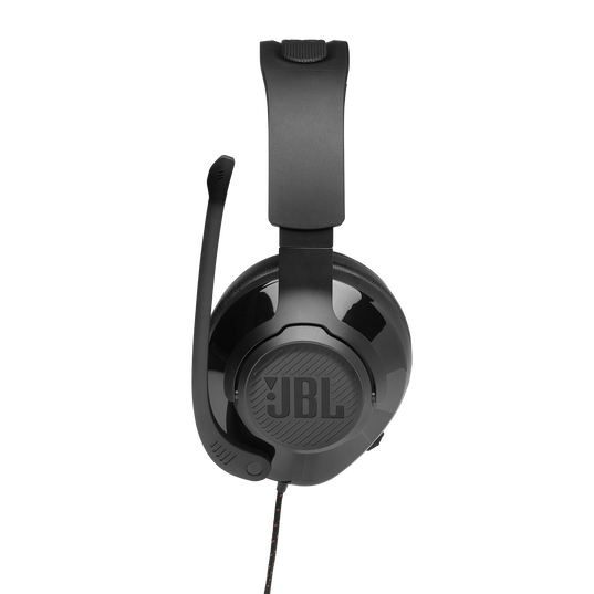 JBL Quantum 300 - Black - Hybrid wired over-ear gaming headset with flip-up mic - Detailshot 7
